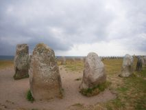 Камни Ales Stenar Стоковые Фотографии RF