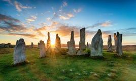 Камни Callanish стоковое фото rf