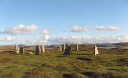 камни callanish III стоящие Стоковая Фотография RF
