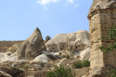 Камни Impresive в Cappadokia Стоковая Фотография