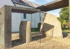 Камни Jellinge, Дания Стоковое Изображение RF