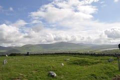 Камни Ogham в Dingle, Керри графства, Ирландии Стоковое фото RF