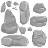 Камни vector комплект Стоковые Фото