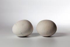 2 камня на белой предпосылке Стоковые Изображения