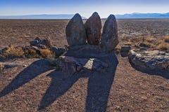 3 камня установили кочевниками Genghis Khan в временном месте для стоянки - двенадцатого века Стоковые Изображения RF