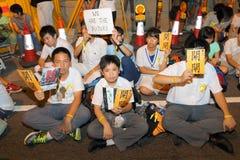 Кампания 2014 бойкота класса Гонконга Стоковое Изображение RF
