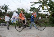 Кампания на рикше Стоковая Фотография RF