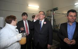 Кампания по выборам президента Bronislaw Komorowski стоковое фото rf