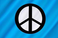 Кампания для ядерного разоружения - флага CND Стоковые Фотографии RF