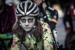 Кампания Cyclocross креста хеллоуина Стоковые Изображения RF