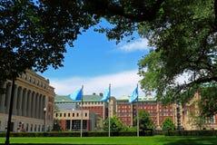 Кампус Нью-Йорка Колумбийского университета Стоковые Фотографии RF