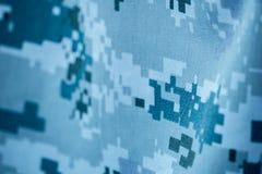 Камуфлирование картины цвета голубого серого цвета цифровое формы военно-морского флота Стоковые Изображения RF