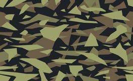 Камуфлирование твердых частиц вектора, зеленая военная предпосылка Картина Camo геометрических форм треугольников иллюстрация штока