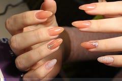 Камуфлирование дизайна маникюра красит ногти Стоковое фото RF