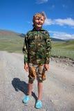Камуфлирование мальчика Стоковое фото RF