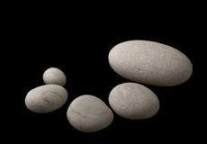 камушки белые Стоковое фото RF
