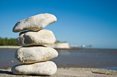 Камушки на пляже Стоковые Изображения