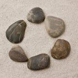 камушки образования звенят песок Стоковое Фото
