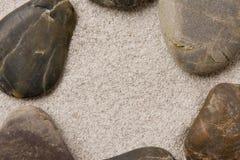 камушки образования звенят песок Стоковые Изображения RF
