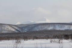 Камчатка, горы, тундра, зона Sobolewski Стоковое Изображение RF