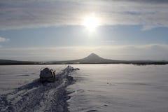 Камчатка, горы, тундра, зона Sobolewski Стоковая Фотография