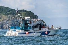 Камчатка Krai, Россия, ветрило 2017-Yachts Agu 19 на Okhotsksea стоковое изображение rf