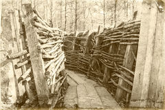 Канава Бельгия Фландрия Первая мировой войны стоковая фотография rf