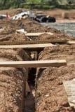 Канава зарытого в землю кабеля общего назначения Стоковая Фотография RF