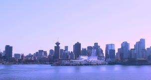 Канада, Ванкувер, город гавани, эпицентр деятельности транспорта Северной Америки акции видеоматериалы