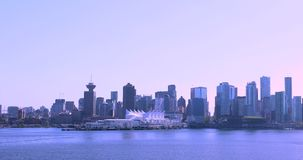 Канада, Ванкувер, город гавани, эпицентр деятельности транспорта Северной Америки видеоматериал