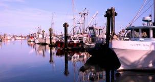 Канада, Ванкувер, Ричмонд, деревня Stevenston, причал рыболова, осмотр достопримечательностей пятна сток-видео