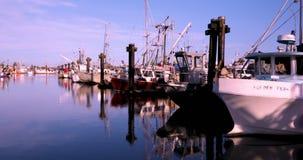 Канада, Ванкувер, Ричмонд, деревня Stevenston, причал рыболова, осмотр достопримечательностей пятна акции видеоматериалы