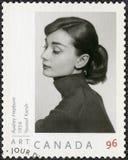 КАНАДА - 2008: выставки Одри Hepburn 1929-1993, актриса Стоковое фото RF