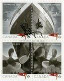 КАНАДА - 2012: выставки титанические, белая линия звезды, титаническое столетие 1912-2012 Стоковое фото RF