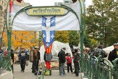 Канада montreal занимает стену улицы Квебека Стоковое фото RF
