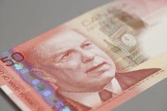 Канадец 50 долларов банкноты Стоковая Фотография RF