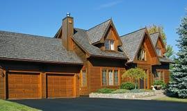канадская дом деревянная Стоковая Фотография RF