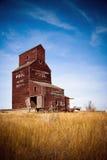 канадская прерия ландшафта зерна лифта Стоковое фото RF