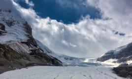 Канадские скалистые горы - ледник Icefields Стоковое Изображение RF
