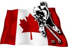 канадский игрок хоккея флага Стоковые Фотографии RF