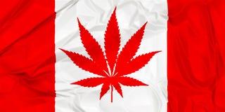 Канадский флаг лист конопли стоковое изображение rf