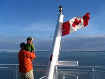 канадский флаг семьи Стоковые Фото
