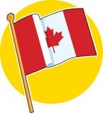 канадский флаг Стоковое фото RF