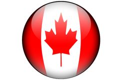 канадский флаг Стоковая Фотография