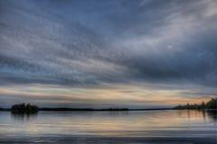 Канадское озеро Стоковая Фотография