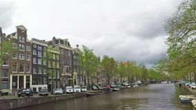 Каналы Амстердама, промежуток времени сток-видео