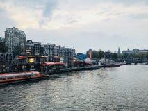Каналы в Амстердаме стоковая фотография