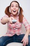 каналы обменивая женщину tv Стоковые Фото