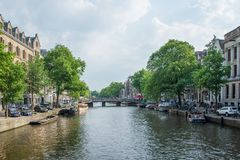 каналы amsterdam стоковые изображения rf