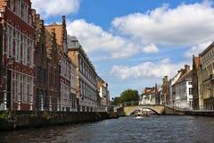 Каналы Brugge Стоковая Фотография